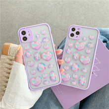 Luxury Colorful Love Heart Gemstone Case For iPhone