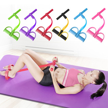4 Tube Fitness Resistance Bands Exercise Equipment Elastic Fitness 1