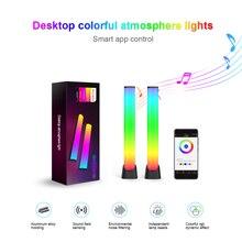 屋内LEDナイトライト,カラフルな雰囲気のあるLEDストリップライト,USB,リモートアプリケーション付き,リビングルームの装飾用,rgb 16色