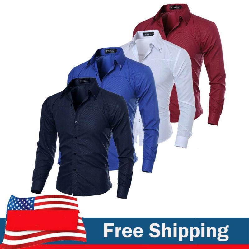 Rising ON Slim Mens Shirt Fashion plaid shirt Long sleeves casual shirt dress Slim mens social business shirt Male Cool