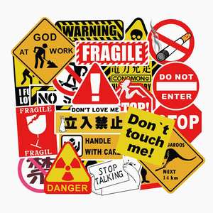 Skateboard-Pad Warning-Stickers Laptop Cool Bicycle-Luggage-Decal Graffiti Facegoo-Lite