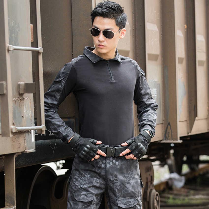 Uniforme militar sapo terno roupas táticas 2020 notícias combate comprovado camisas airsoft disfarce soldado do exército camuflagem roupas