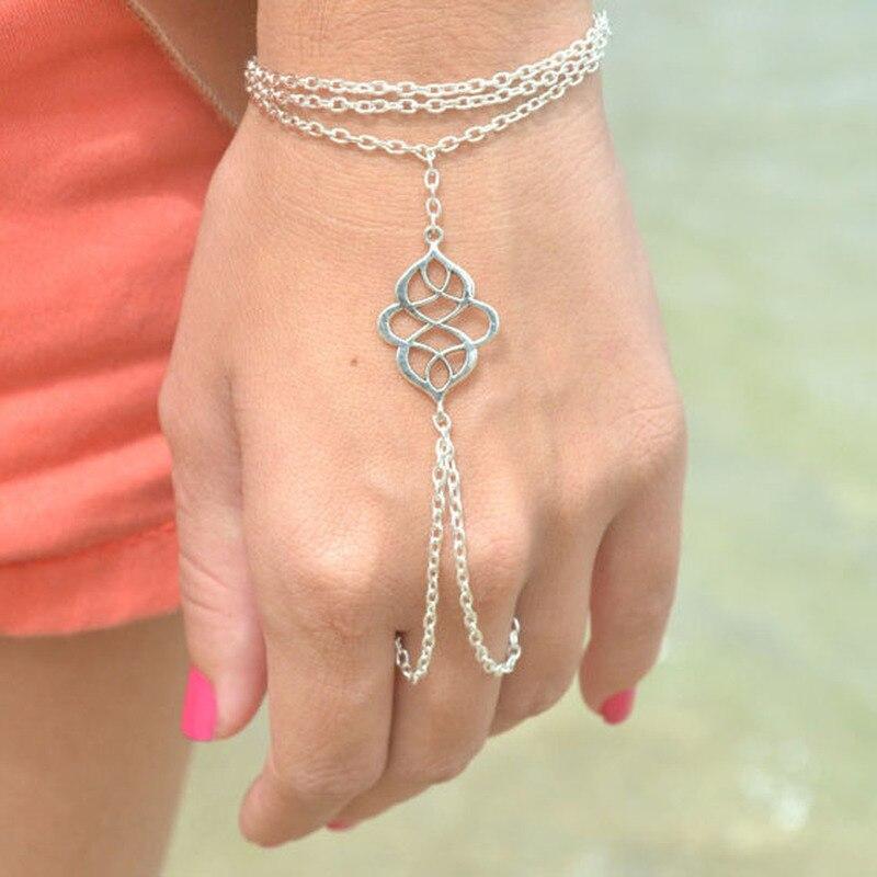 HebeDeer Lucky Bracelets Women Tassel Charms Bracelet Fashion Girl Rose Gold Color Fashion Jewelry Bohemia Zinc Alloy Armband