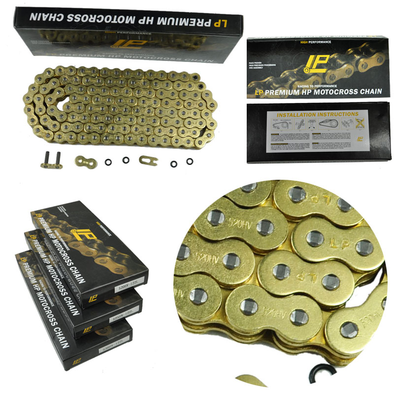LOPOR Kette Mit 520 O Ring 120 Link Motorrad Pit Dirt Bike MX <font><b>Motocross</b></font> Enduro Supermoto Racing ATV <font><b>Quad</b></font> image