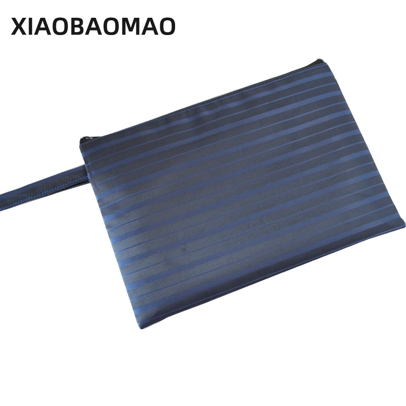 XIAOBAOMAO Business men's briefcase file folder a4 documents file bag folder zipper bag paper organizer