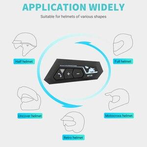Image 5 - Bluetooth 5.0 Motor Helm Headset Draadloze Handsfree Stereo Oortelefoon Motorhelm Hoofdtelefoon Mp3 Speaker Helm Intercom