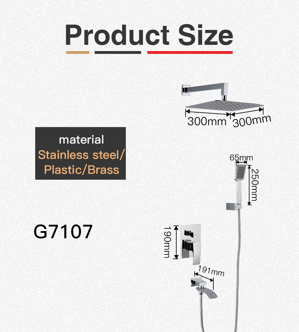 GAPPO Wall bathroom shower faucet brass set rainfall shower mixer tap chrome bathtub faucet tap waterfall Bath Shower 13