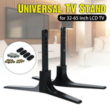 1 Pair 32-65inch Safety Height Adjustable Universal Stable Pedestal Easy Install Table Top Mount TV Stand Base For Sharp For TCL