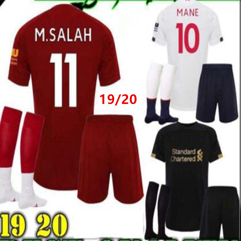 18//19 Football Jersey White Home Adult Men Kid Soccer Kit Suit Sock Short Sleeve