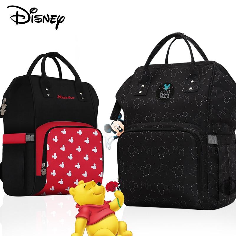 Disney Maternity Travel Mochila Grande Capacidade De Saco De Fraldas  Diaper Bag Backpack   Large Travel Bag  Travel Backpack