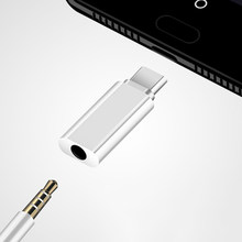 Conversor de áudio e fone de ouvido, adaptador de entrada tipo c para fone de ouvido de 3.5mm aux cabo para huawei p20 lite mate 20