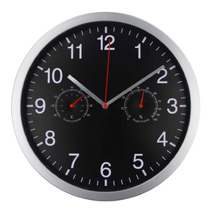 Image 2 - HLZS 3 in 1 Silent Quartz Wall Clock Quiet Sweep Movement Thermometer Hygrometer No Ticking Home Art Decor Wall Clock