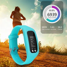 Multifunctional 6 Colors Digital LCD Pedometer Watch Run Step Pedometer Silicone Watch Fashion Bracelet Calorie Walking Couter(China)