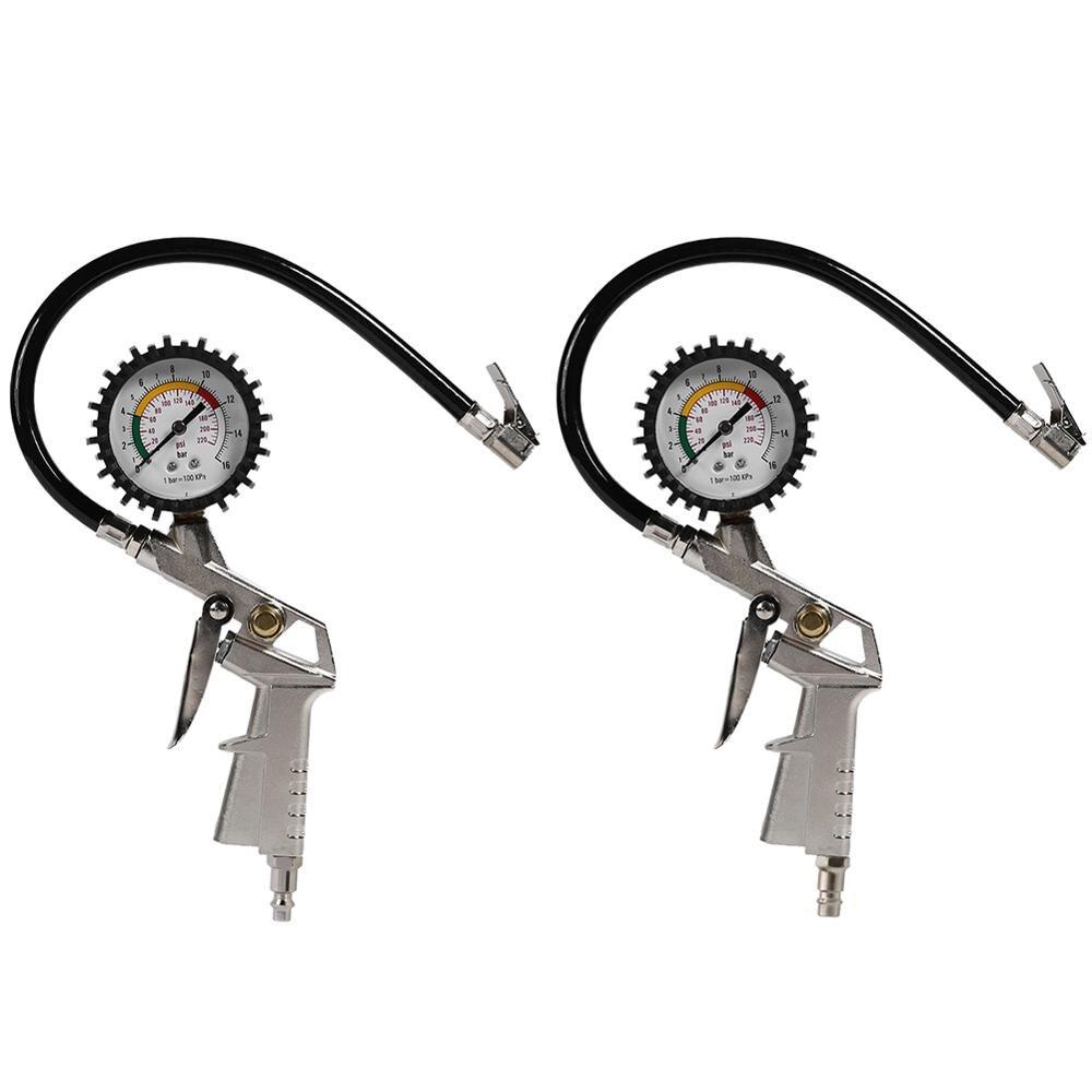 0-220 Psi Car Tire Pressure Gauge Pointer Tyre Air Pressure Inflator Inflate Tyre Pressure Car Measuring Tire Pressure Gauge