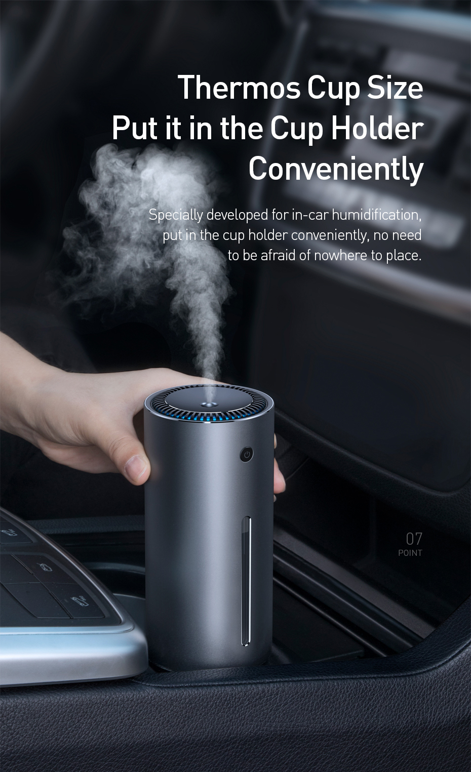 BASEUS Car Air Purifier with Essential Oil Aroma Diffuser and USB for Home and Office Air Purification 9
