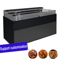 Open Type Air Heat Insulation Machine Commercial Heating Insulation Display Cabinet Kitchen Appliances Display Freezer