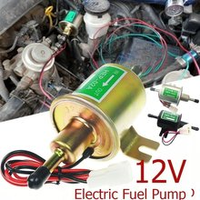 12V Electric Fuel Pump Low Pressure Bolt Fixing Wire Metal Gasoline Petrol Diesel Oil Pumps For Car Motorcycle