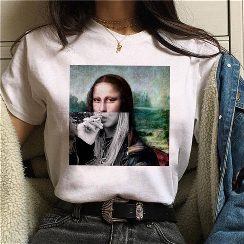 FIXSYS 2019 New Korean Women T Shirt Fashion Print Vintage Tshirt Funny T-shirt Harajuku Summer Tee Shirt Femme Tops Shirts