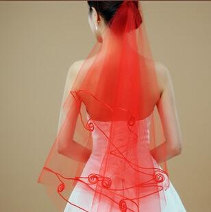 Bridal Veil Single Layer Ribbon Edging Wedding Long Tail Single Line Mesh Yarn