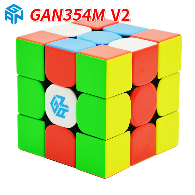 Gan356 R S 3x3x3/GAN 354M V2 Magnetic Cube Stickerless Magic Professional 356 Speed Magico Cubo GAN356AIR Puzzles For Children