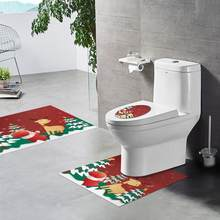 Christmas PVC Bathroom Sticker Anti-skid Waterproof Santa Clause Toilet Floor Sticker Home Furnishing Decoration Accessories(China)