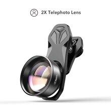 APEXEL objectif de téléphone portable 4K HD 2X lentille de télescope téléobjectif zoom objectif de caméra pour iPhone Xiaomi tous les smartphones livraison directe