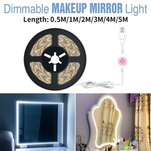 CanLing Makeup Vanity Light LED Mirror Lamp Dimmable Dressing Table Bulb Kit USB 12V Cosmetic Beauty Lampada