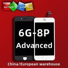 1PC nowy bardzo jasny zaawansowany wyświetlacz LCD dla iphone 6s 7 8 plus wyświetlacz LCD montaż digitizera ekranu dotykowego z pełny widok kąt