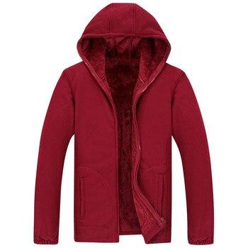 Winter Parka Men Plus Velvet Warm Windproof Coats Male Windbreaker Black 2020 Casual Hooded Thick Fleece Jacket - discount item  68% OFF Parkas