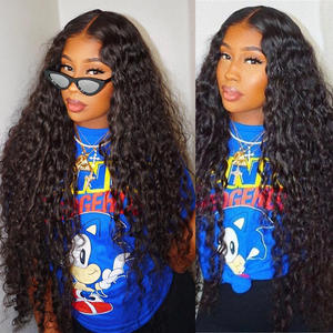 Amanda Brazilian Hair Water Wave Lace Front Wigs Human Hair with Baby Hair 150% Density 8-24 Remy Human Hair Wigs Lace Frontal