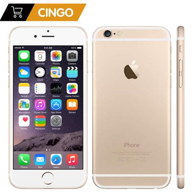 "Unlocked Apple iPhone 6 IOS çift çekirdekli 1.4GHz 4.7 ""inç RAM 1GB ROM 16/64/128GB 8.0 MP kamera 3G WCDMA LTE kullanılan cep telefonu"