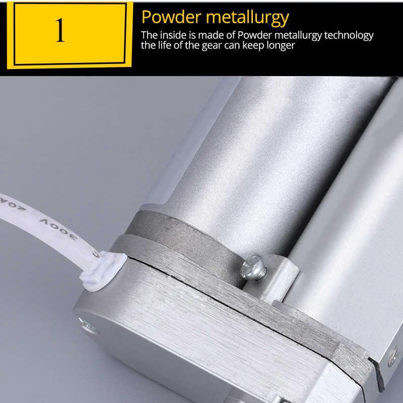 Metal gear attuatore Lineare elettrico 12V 24V 36V 48V motore lineare in movimento distanza di corsa 50 millimetri 100 millimetri 150 millimetri 200 millimetri 250 millimetri 2.5A max