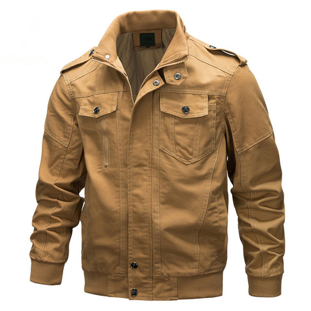 Style Punk grande taille hommes rue décontracté veste militaire hommes Moto Biker coton vestes et manteaux US armée Outwear noir kaki vert
