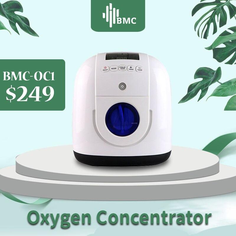 Concentrador portátil do oxigênio de bmc com cânula nasal homecare máquina médica do oxigênio tanque de oxigeno medicoe quipos medicos
