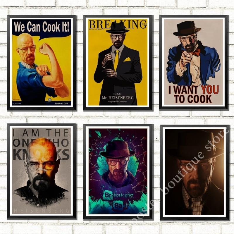 Breaking Bad Heisenberg Walter White Jesse Pinkman Saul A4 Stickers Set Decals