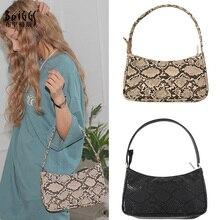 BRIGGS Fashion Serpentine Women Handbag High Quality PU Leather Women's Flap Bag Female Shoulder Bag Lady Crossbody Bags sac цены