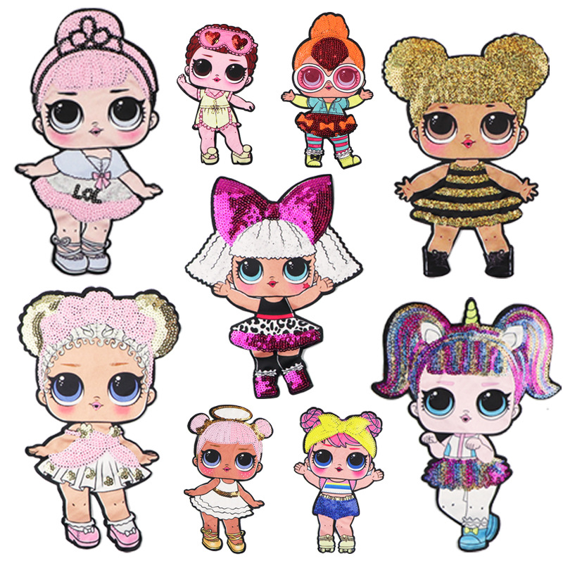 2019 New Fashion DIY Applique Water Soluble Embroidery Costume Decoration Children Clothes Colorful Decals Accessories Cute 6 Pc