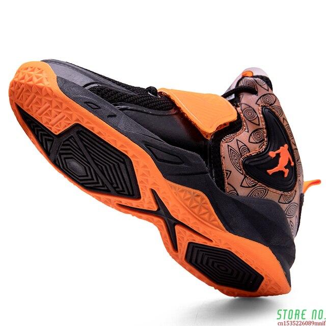 Zapatillas deportivas de baloncesto para niños, Zapatos altos de marca para gimnasio, botas de baloncesto para jóvenes, novedad 1
