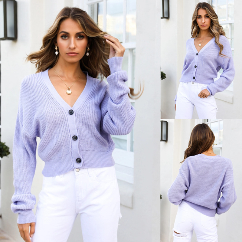 Women's Fashion Long Sleeve Sweater Cosy Up Cardi Lilac Sweater