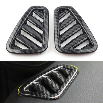Car Upper AC Air Vent Outlet Cover For 2019 Mercedes Benz A-Class W177 A200 A220 A250 5-Door Only ABS Plastic Carbon Fiber Style image
