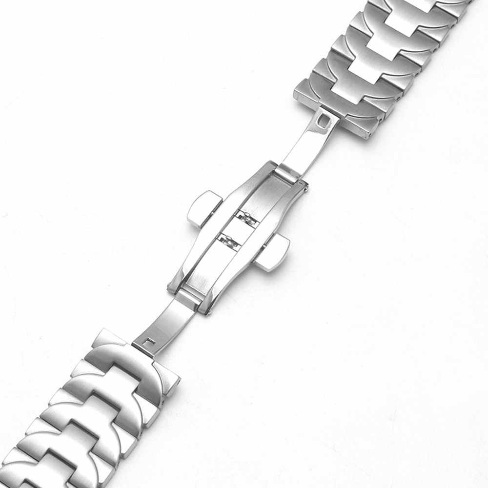 IStrap 24 millimetri 316L Cinturino In Acciaio Inox Argento Doppio Push Chiusura Per Panerai Luminor Uomo di Stile