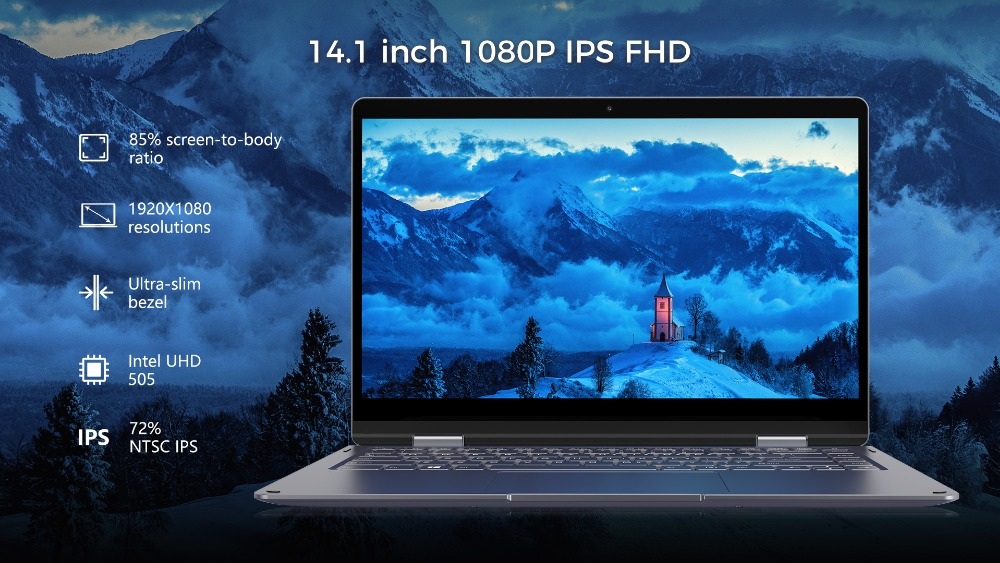 Refurbished laptop PhilBook MAX 14.1 inch Notebook Window 10 8GB RAM 128GB 1TB SSD 1920*1080 Intel E3950 Quad Core Ultrabook
