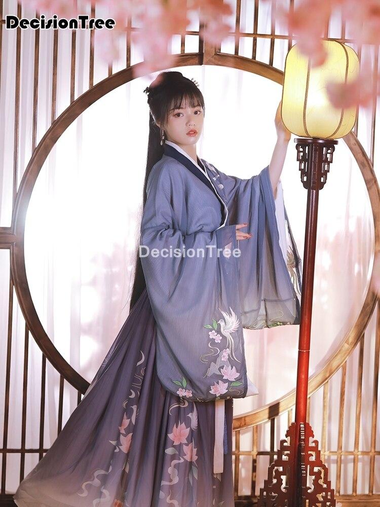 Hanfu-Conjunto de disfraz nacional chino antiguo para mujer, traje de cosplay chino antiguo, vestido de escenario chino para mujer 2021