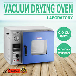 Vacuum Drying Oven 0.9 Cu Ft 23L Digital Degassing Drying Oven Stainless Steel Vacuum Chamber Drying Sterilizing Oven