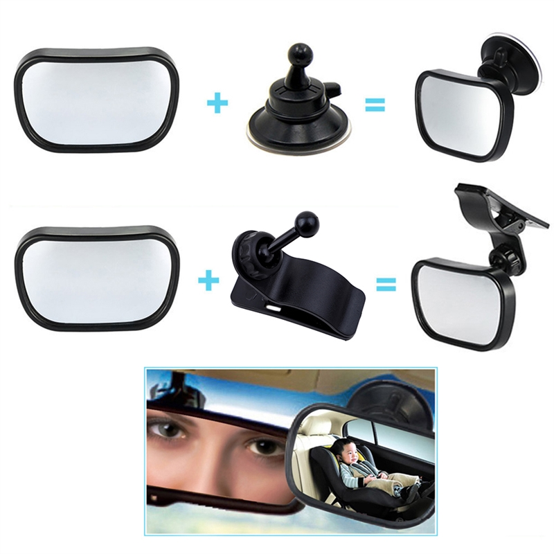 360 Rotating Baby  Adjustable Observation Mirror Safety Easy Installation  Guard Car Rear Seat Car Accessories Monitor Auto