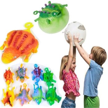 Children Kids Toy Children Funny Blowing Animals Toys Dinosaur Anxiety Stress Relief Inflatable Balloon Squeeze Ball 2019 dinosaur squishy mesh ball grape squeeze relief fidget autism stress toys anti stress dinosaur grape ball kids toys gifts