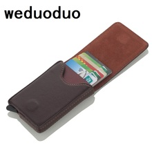 NEW Aluminium Business Card Holder PU Leather Credit RFID Antitheft Travel Wallet Blocking Rfid Case