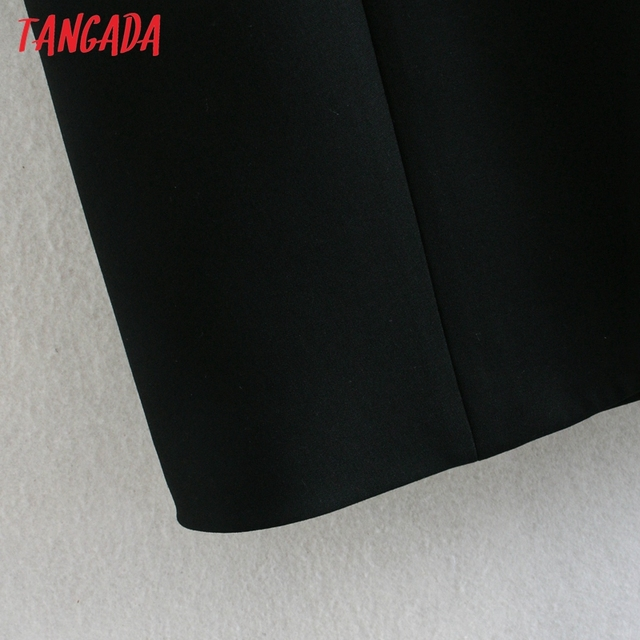 Tangada Fashion Women Solid Blackless Party Dress New Arrival Sleeveless Ladies Short Halter Dress Vestidos CE47 5