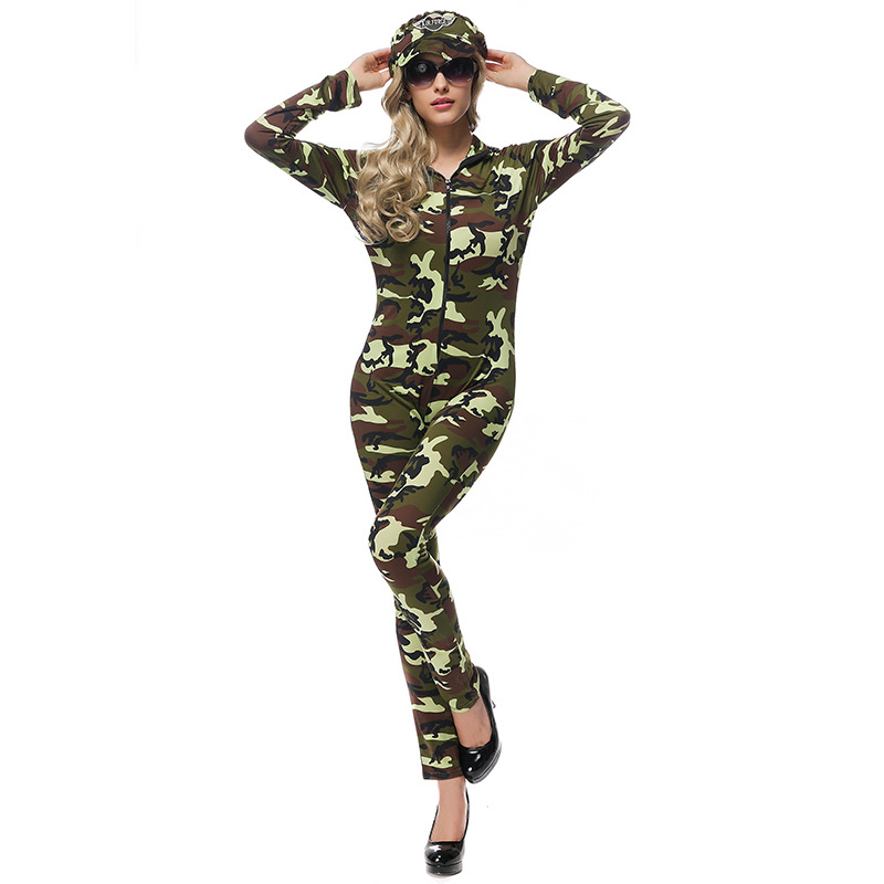Women Halloween Sexy Soldiers Costumes Cosplay Adult Woman Carnival Funny Policewoman Role Play Game Uniform
