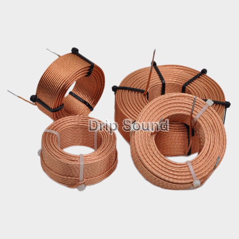 1pcs 0.03mH-0.7mH 0.35mmx7 Multi Strand Wire Speaker Crossover Audio Amplifier Inductor Oxygen-Free Copper Wire Coil #Copper